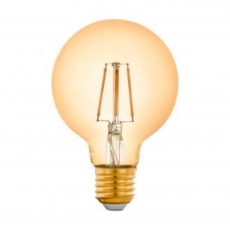 EGLO 12572 | E27 5,5W -> 41W Eglo veľká guľa G80 LED svetelný zdroj filament múdre osvetlenie 500lm 2200K regulovateľná intenzita svetla, na diaľkové ovládanie CRI>80