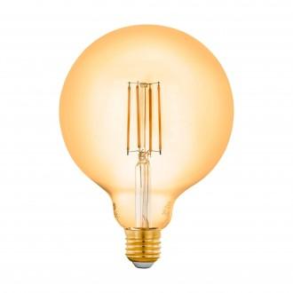 EGLO 12573 | E27 6W -> 50W Eglo veľká guľa G125 LED svetelný zdroj filament múdre osvetlenie 650lm 2200K regulovateľná intenzita svetla, na diaľkové ovládanie CRI>80