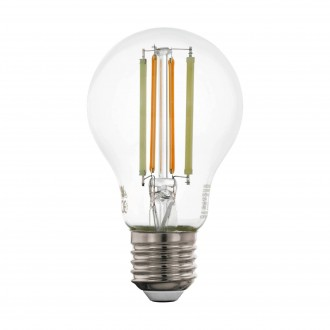 EGLO 12574 | E27 6W -> 60W Eglo normálne A60 LED svetelný zdroj CCT filament múdre osvetlenie 806lm 2200 <-> 6500K regulovateľná intenzita svetla, nastaviteľná farebná teplota, na diaľkové ovládanie CRI>80