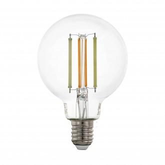 EGLO 12575 | E27 6W -> 60W Eglo veľká guľa G80 LED svetelný zdroj CCT filament múdre osvetlenie 806lm 2200 <-> 6500K regulovateľná intenzita svetla, nastaviteľná farebná teplota, na diaľkové ovládanie CRI>80