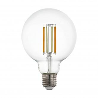EGLO 12576 | E27 6W -> 60W Eglo veľká guľa G95 LED svetelný zdroj CCT filament múdre osvetlenie 806lm 2200 <-> 6500K regulovateľná intenzita svetla, nastaviteľná farebná teplota, na diaľkové ovládanie CRI>80