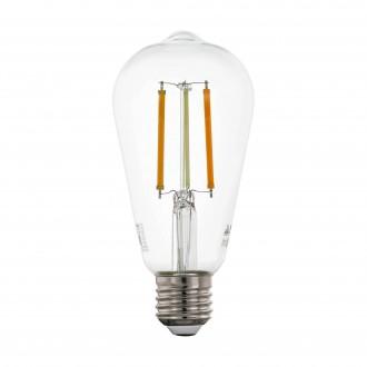 EGLO 12577 | E27 6W -> 60W Eglo Edison ST64 LED svetelný zdroj CCT filament múdre osvetlenie 806lm 2200 <-> 6500K regulovateľná intenzita svetla, nastaviteľná farebná teplota, na diaľkové ovládanie CRI>80