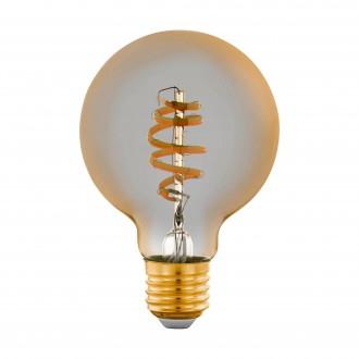 EGLO 12579 | E27 5,5W -> 35W Eglo veľká guľa G80 LED svetelný zdroj CCT filament múdre osvetlenie 400lm 2200 <-> 6500K regulovateľná intenzita svetla, nastaviteľná farebná teplota, na diaľkové ovládanie CRI>80