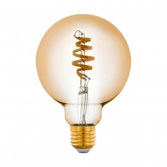 EGLO 12581 | E27 5,5W -> 35W Eglo veľká guľa G95 LED svetelný zdroj CCT filament múdre osvetlenie 400lm 2200 <-> 6500K regulovateľná intenzita svetla, nastaviteľná farebná teplota, na diaľkové ovládanie CRI>80