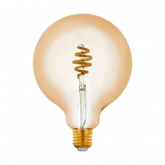 EGLO 12582 | E27 5,5W -> 35W Eglo veľká guľa G125 LED svetelný zdroj CCT filament múdre osvetlenie 400lm 2200 <-> 6500K regulovateľná intenzita svetla, nastaviteľná farebná teplota, na diaľkové ovládanie CRI>80