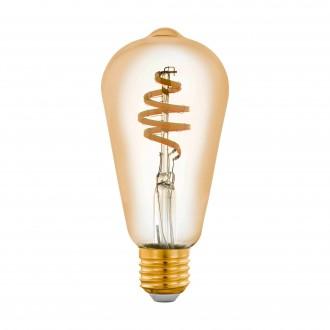 EGLO 12583 | E27 5,5W -> 35W Eglo Edison ST64 LED svetelný zdroj CCT filament múdre osvetlenie 400lm 2200 <-> 6500K regulovateľná intenzita svetla, nastaviteľná farebná teplota, na diaľkové ovládanie CRI>80