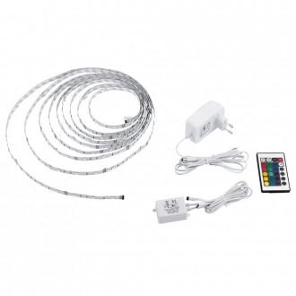EGLO 13533 | Eglo-LS-Basic Eglo LED pásy RGB svietidlo diaľkový ovládač regulovateľná intenzita svetla, meniace farbu 1x LED RGBK biela