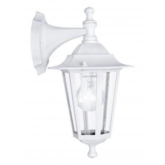 EGLO 22462 | Laterna8 Eglo rameno stenové svietidlo 1x E27 IP44 biela, priesvitná