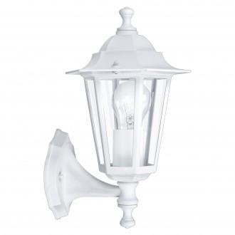 EGLO 22463 | Laterna8 Eglo rameno stenové svietidlo 1x E27 IP44 biela, priesvitná