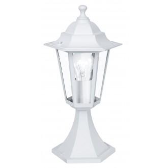 EGLO 22466 | Laterna8 Eglo stojaté svietidlo 38,5cm 1x E27 IP44 biela, priesvitná