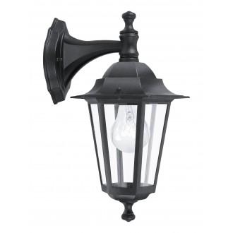 EGLO 22467 | Laterna8 Eglo rameno stenové svietidlo 1x E27 IP44 čierna, priesvitná