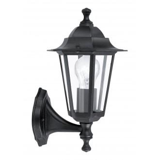 EGLO 22468 | Laterna8 Eglo rameno stenové svietidlo 1x E27 IP44 čierna, priesvitná