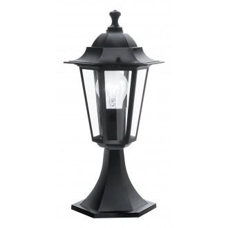 EGLO 22472 | Laterna8 Eglo stojaté svietidlo 38,5cm 1x E27 IP44 čierna, priesvitná