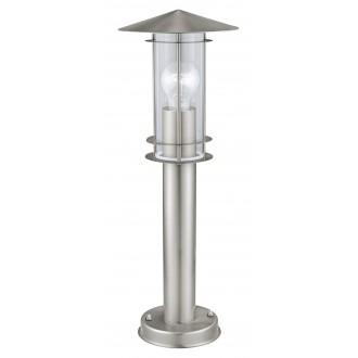 EGLO 30187 | Lisio Eglo stojaté svietidlo 50cm 1x E27 IP44 zušľachtená oceľ, nehrdzavejúca oceľ, priesvitná