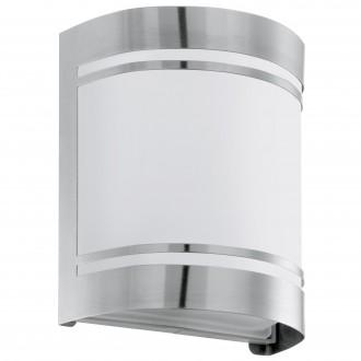 EGLO 30191 | Cerno Eglo stenové svietidlo 1x E27 IP44 zušľachtená oceľ, nehrdzavejúca oceľ, biela, saténový