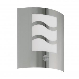 EGLO 30194 | City2 Eglo stenové svietidlo pohybový senzor 1x E27 IP33 zušľachtená oceľ, nehrdzavejúca oceľ, biela