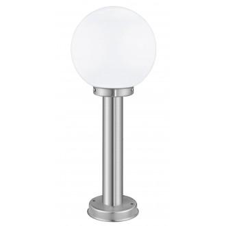 EGLO 30206 | Nisia Eglo stojaté svietidlo 50cm 1x E27 IP44 zušľachtená oceľ, nehrdzavejúca oceľ, biela