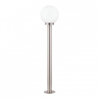 EGLO 30207 | Nisia Eglo stojaté svietidlo 100cm 1x E27 IP44 zušľachtená oceľ, nehrdzavejúca oceľ, biela