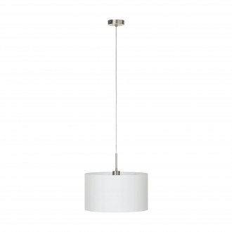 EGLO 31571 | Eglo_Pasteri_W Eglo visiace svietidlo 1x E27 matný biely, matný nikel