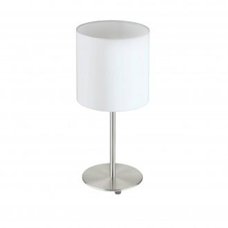 EGLO 31594 | Eglo-Pasteri-W Eglo stolové svietidlo 40cm prepínač na vedení 1x E27 matný biely, matný nikel
