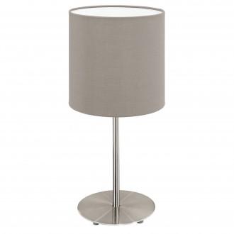 EGLO 31595 | Eglo-Pasteri-T Eglo stolové svietidlo 40cm prepínač na vedení 1x E27 matný tmavošedý, biela, matný nikel