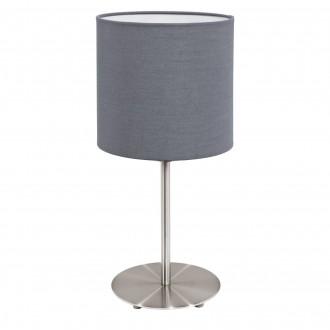 EGLO 31596 | Eglo-Pasteri-G Eglo stolové svietidlo 40cm prepínač na vedení 1x E27 matná šedá, biela, matný nikel