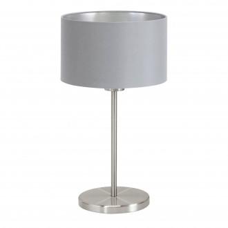 EGLO 31628 | Eglo-Maserlo-G Eglo stolové svietidlo 42cm prepínač na vedení 1x E27 sivé, strieborný, matný nikel