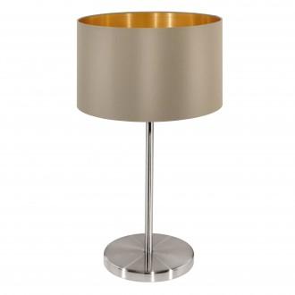 EGLO 31629 | Eglo-Maserlo-T Eglo stolové svietidlo 42cm prepínač na vedení 1x E27 lesklý tmavošedý, zlatý, matný nikel