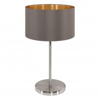 EGLO 31631 | Eglo-Maserlo-C Eglo stolové svietidlo 42cm prepínač na vedení 1x E27 lesklé cappuccino, zlatý, matný nikel