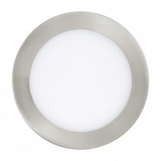 EGLO 31671 | Fueva_1 Eglo zabudovateľné LED panel kruhový Ø170mm 1x LED 1200lm 3000K matný nikel, biela