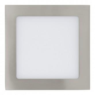 EGLO 31673 | Fueva_1 Eglo zabudovateľné LED panel štvorec 170x170mm 1x LED 1200lm 3000K matný nikel, biela