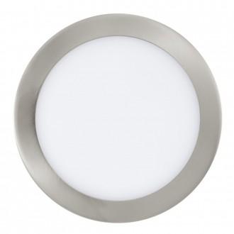 EGLO 31675 | Fueva_1 Eglo zabudovateľné LED panel kruhový Ø225mm 1x LED 1600lm 3000K matný nikel, biela