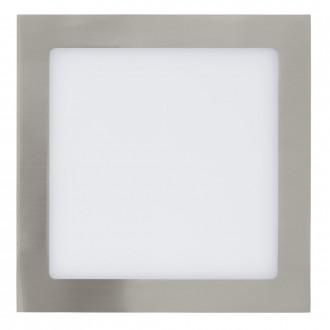 EGLO 31677 | Fueva_1 Eglo zabudovateľné LED panel štvorec 225x225mm 1x LED 1700lm 3000K matný nikel, biela