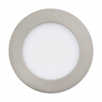 EGLO 32753 | EGLO-Connect-Fueva Eglo zabudovateľné múdre osvetlenie kruhový regulovateľná intenzita svetla, nastaviteľná farebná teplota, meniace farbu Ø120mm 1x LED 700lm 2700 <-> 6500K matný nikel, biela