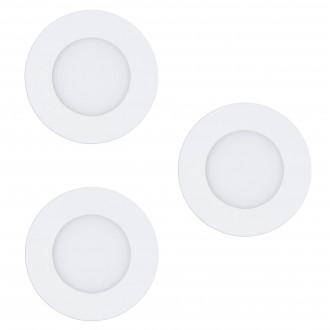EGLO 32881 | EGLO-Connect-Fueva Eglo zabudovateľné múdre osvetlenie kruhový regulovateľná intenzita svetla, nastaviteľná farebná teplota, meniace farbu, 3 dielna súprava Ø85mm 3x LED 1080lm 2700 <-> 6500K biela