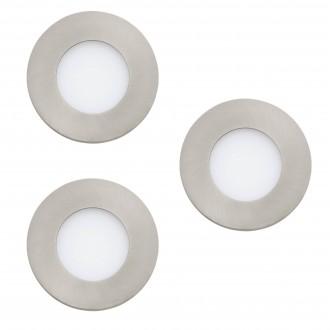 EGLO 32882 | EGLO-Connect-Fueva Eglo zabudovateľné múdre osvetlenie kruhový regulovateľná intenzita svetla, nastaviteľná farebná teplota, meniace farbu, 3 dielna súprava Ø85mm 3x LED 1080lm 2700 <-> 6500K matný nikel, biela
