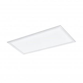EGLO 33108 | Salobrena-RGBW Eglo sadrokartónový strop RGBW LED panel obdĺžnik diaľkový ovládač regulovateľná intenzita svetla, meniace farbu 1x LED 2400lm rgbwK biela