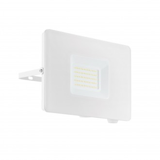 EGLO 33155 | Faedo Eglo svetlomet svietidlo - Samsung Chip štvorec otočné prvky 1x LED 4800lm 4000K IP65 biela, priesvitná