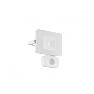 EGLO 33156 | Faedo Eglo svetlomet svietidlo - Samsung Chip pohybový senzor, svetelný senzor - súmrakový spínač otočné prvky 1x LED 900lm 4000K IP44 biela, priesvitné