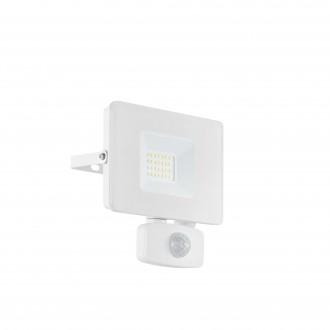 EGLO 33157 | Faedo Eglo svetlomet svietidlo - Samsung Chip pohybový senzor, svetelný senzor - súmrakový spínač otočné prvky 1x LED 1800lm 4000K IP44 biela, priesvitná