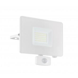 EGLO 33159 | Faedo Eglo svetlomet svietidlo - Samsung Chip pohybový senzor, svetelný senzor - súmrakový spínač otočné prvky 1x LED 4800lm 4000K IP44 biela, priesvitná