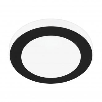 EGLO 33682 | Carpi-LED Eglo stenové, stropné svietidlo kruhový 1x LED 950lm 3000K IP44 čierna, biela