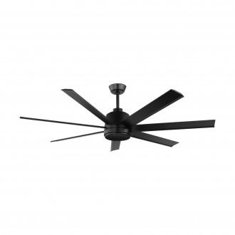 EGLO 35019 | Azar-60 Eglo ventilátor stropné diaľkový ovládač nastaviteľná výška matná čierna