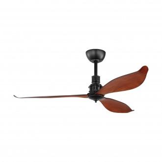 EGLO 35026   Lagos-52 Eglo ventilátor stropné diaľkový ovládač časový spínač matná čierna, hnedá