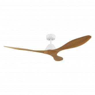 EGLO 35069 | Antibes-EG Eglo ventilátor stropné diaľkový ovládač časový spínač matný biely, bambus
