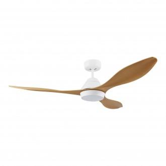 EGLO 35071   Antibes-EG Eglo svietidlo s ventilátorom stropné diaľkový ovládač časový spínač 1x LED 2000lm 4000K matný biely, bambus