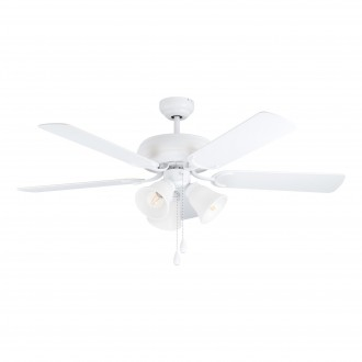 EGLO 35076 | Las-Palmas Eglo svietidlo s ventilátorom stropné prepínač na ťah na diaľkové ovládanie 3x E27 matný biely, dub