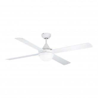 EGLO 35082 | Varadero Eglo svietidlo s ventilátorom stropné diaľkový ovládač časový spínač 2x E27 matný biely, dub