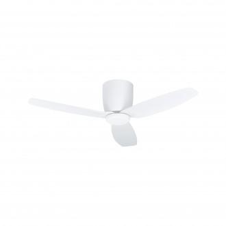 EGLO 35086 | Bavaro Eglo svietidlo s ventilátorom stropné diaľkový ovládač časový spínač, UV vzdorný plast 1x LED 1850lm 4000K UV matný biely