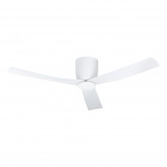 EGLO 35087 | Lerici Eglo svietidlo s ventilátorom stropné diaľkový ovládač regulovateľná intenzita svetla, nastaviteľná farebná teplota, časový spínač, UV vzdorný plast 1x LED 1600lm 2700 <-> 6500K UV matný biely